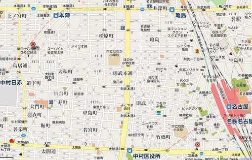 中村生涯学習センター広域地図
